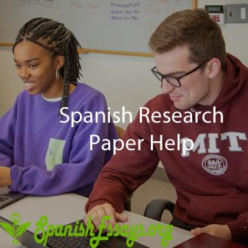 Spanish research paper help